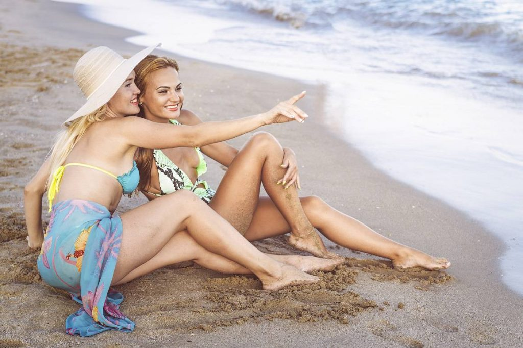 Female Couple Beach