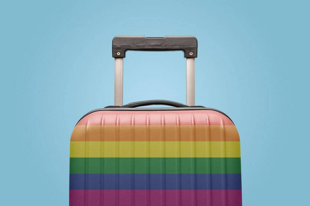 Suitcase with LGBT Flag