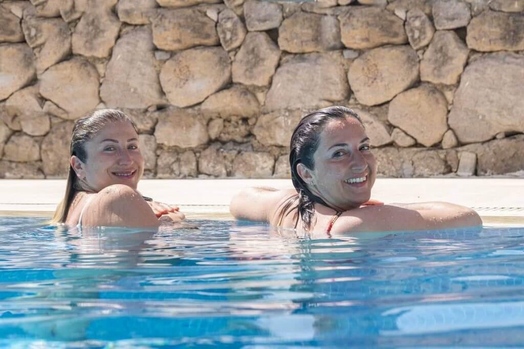 Female Couple Pool