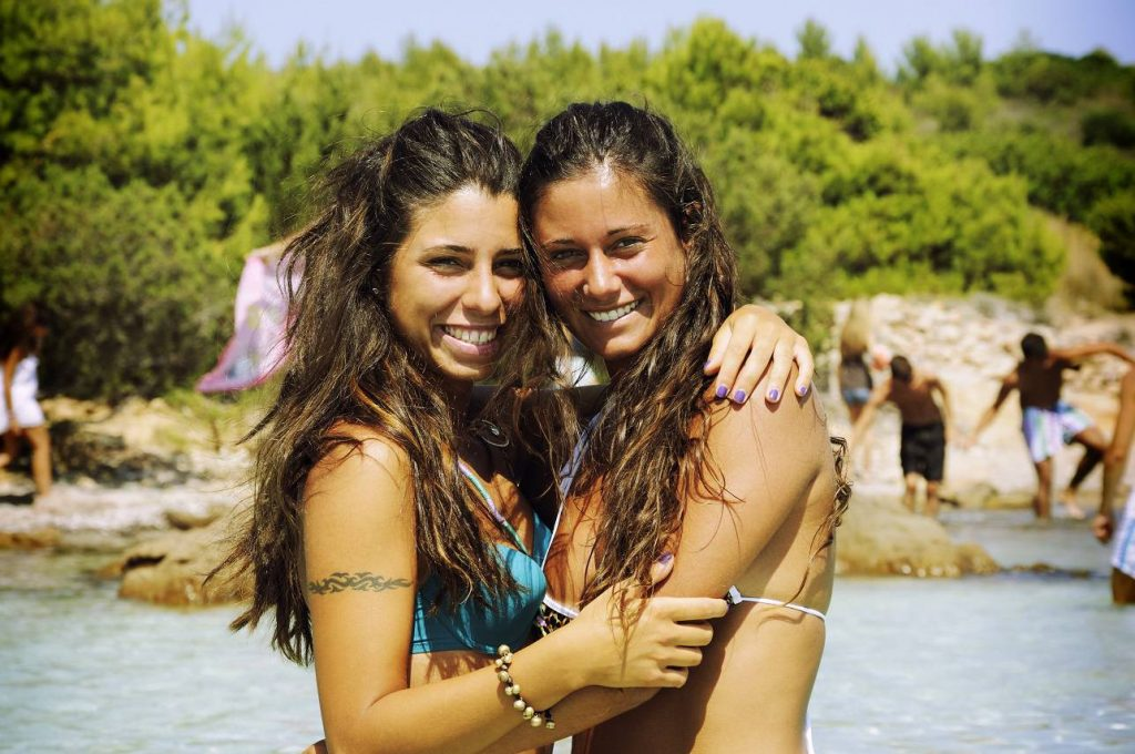 Female Couple Beach 2