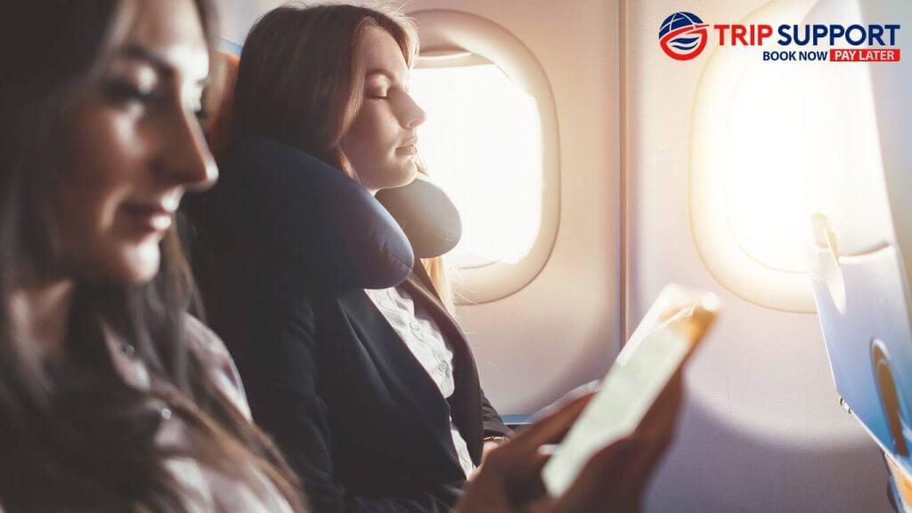 Sleeping on the flight
